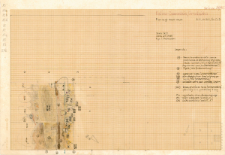 KZG, VI 301 C D, plan archeologiczny wykopu