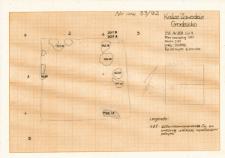 KZG, VI 301 A, plan archeologiczny wykopu