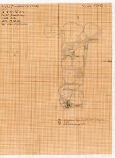 KZG, VI 301 C, profil archeologiczny S wykopu