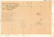 KZG, VI 301 D, 302 C D, plan (szkic) archeologiczny wykopu