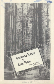 Community forests for rural people