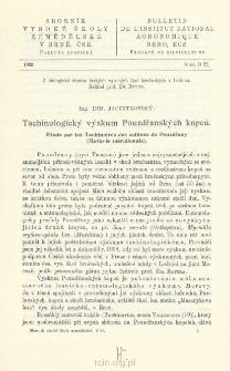 Tachinologicky vyzkum Pouzdranskÿch kopcu = Étude sur les Tachinaires des collines de Pouzdrany (Moravie méridionale)