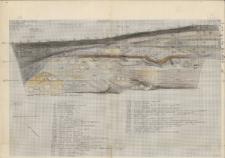 KZG, V 14 D, 15 C D, profil archeologiczny W wykopu
