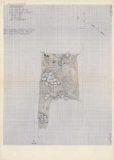 KZG, V 16 C, plan archeologiczny wykopu