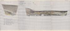 KZG, V 16 D, 21 B D, profil archeologiczny N wykopu