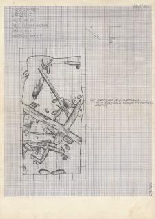 KZG, V 21 C, plan archeologiczny wykopu