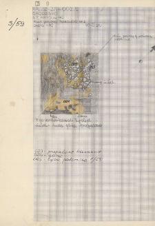 KZG, V 20 A C, plan archeologiczny paleniska nr 1