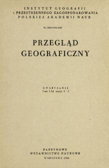 Przegląd Geograficzny T. 61 z. 1-2 (1989)