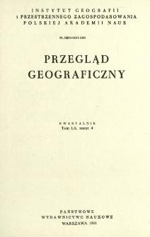 Przegląd Geograficzny T. 60 z. 4 (1988)