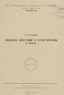 Adaptations which hinder or prevent Inbreeding in Insects