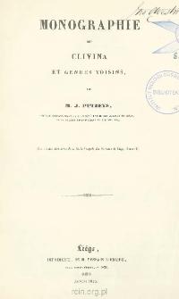 Monographie des Clivina et genres voisins, précédée d'un tableau synoptique des genres de la tribu des Scaritides