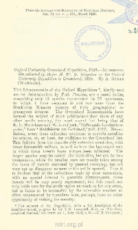 Oxford University Greenland Expedition, 1928 - Ichneumonidæ collected by Major R. W. G. Hingston on the Oxford University Expedition to Greenland, 1928