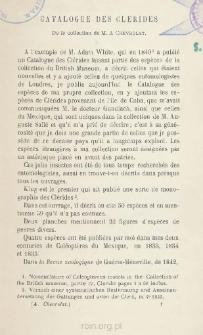 Catalogue des Clerides
