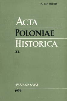 Acta Poloniae Historica. T. 40 (1979), Notes