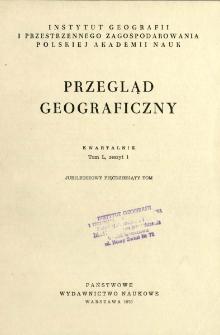 Przegląd Geograficzny T. 50 z. 1 (1978)