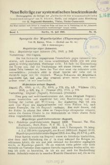 Synopsis der Megathripidae (Thysanoptera) : [Schluß aus Nr 14]