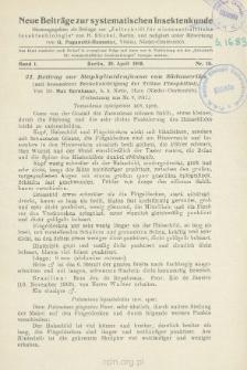 21. Beitrag zur Staphylinidenfauna von Südamerika : mit besonderer Berücksichtigung der Tribus Pinophilini : [Fortsetzung aus Nr. 9, 1917]