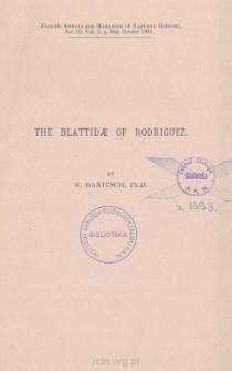The Blattidæ of Rodriguez