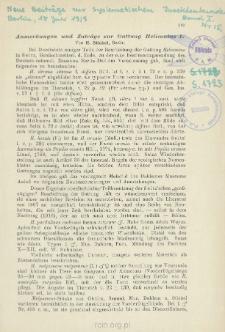 Anmerkungen und Zuträge zur Gattung Heliconius L.