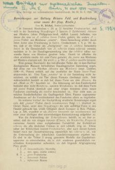 Bemerkungen zur Gattung Abisara Feld und Beschreibung einer neuen Art (Lep. Riodin.)