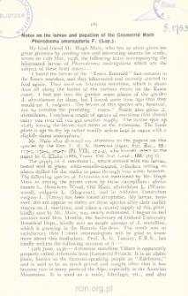 Notes on the larvae and pupation of the Geometrid Moth Phorodesma smaragdaria F. (Lep.)