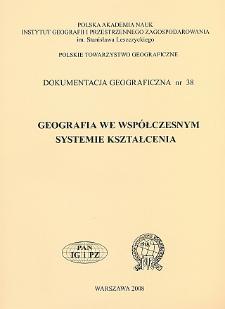 Geografia we współczesnym systemie kształcenia