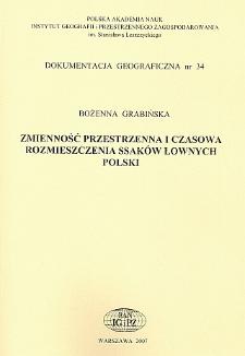 Zmienność przestrzenna i czasowa rozmieszczenia ssaków łownych Polski