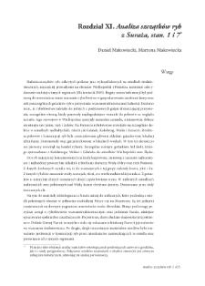 Analiza szczątków ryb z Suraża, stan. 1 i 7