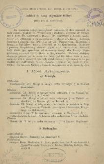 Dodatek do fauny pajęczaków Galicyi