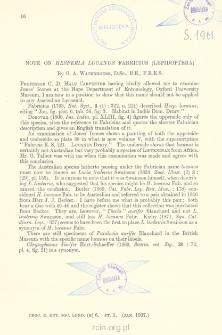 Note on Hesperia Lucanus Fabricius (Lepidoptera)