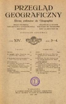 Przegląd Geograficzny T. 14 z. 3-4 (1934-1935)