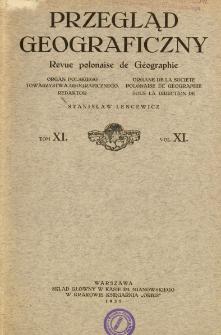 Przegląd Geograficzny T. 11 (1931)