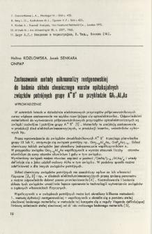 Zastosowanie metody mikroanalizy rentgenowskiej do badania składu chemicznego warstw epitaksjalnych związków potrójnych grupy AIIIBV na przykładzie GA1-xAlxAs = X-ray microanalysis application for the investigation of epitaxial layer chemical composition of AIIIBV group triple compounds with the Ga1-x\alx\as as a representative of this group