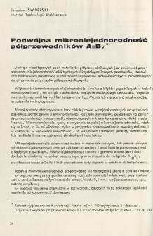 Podwójna mikroniejednorodność półprzewodników AIIIBV = Double microunhomogeneity of the semiconductor group AIIIBV