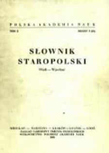 Słownik staropolski. T. 10 z. 3 (63), (Wieli-Wjechać)