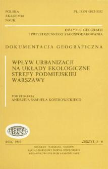 Wpływ urbanizacji na układy ekologiczne strefy podmiejskiej Warszawy = Influence of urbanization on ecological zones of suburban Warsaw