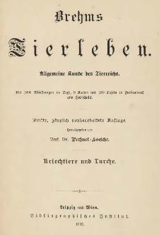 Brehms Tierleben : Die Kriechtiere und Lurche. Bd. 4 /