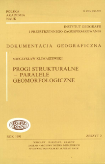 Progi strukturalne - paralele geomorfologiczne = Geomorphological comparison of structural thresholds