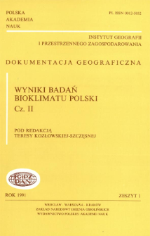 Wyniki badań bioklimatu Polski. Cz. 2 = Results of bioclimatic research of Poland