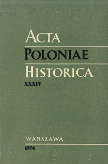 Acta Poloniae Historica. T. 34 (1976), Title pages, Contents