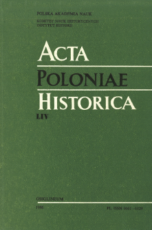 Acta Poloniae Historica. T. 54 (1986), Vie scientifique