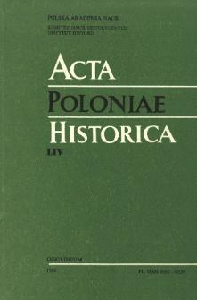 Acta Poloniae Historica. T. 54 (1986), Notes