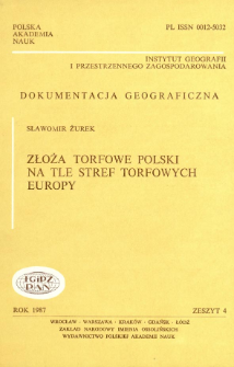 Złoża torfowe Polski na tle stref torfowych Europy = Peat deposits of Poland against the peat zones of Europe