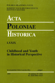 Acta Poloniae Historica. T. 79 (1999), Title pages, Contents