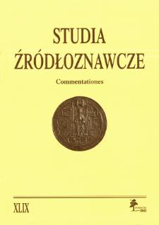 Studia Źródłoznawcze = Commentationes T. 49 (2011), Kronika