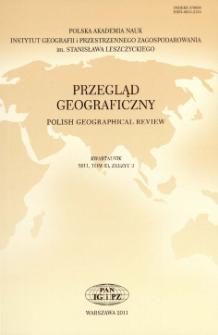 Przegląd Geograficzny T. 83 z. 3 (2011), Kronika