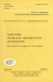 Niektóre problemy metodyczne hydrologii = Some methodological problems fo hydrology