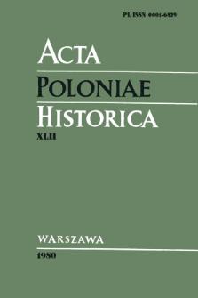 Acta Poloniae Historica. T. 42 (1980), Vie scientifique