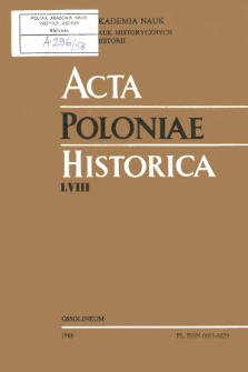 Acta Poloniae Historica. T. 58 (1988), Title pages, Contents