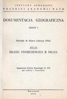Atlas bilansu promieniowania w Polsce : materiały do bilansu cieplnego Polski